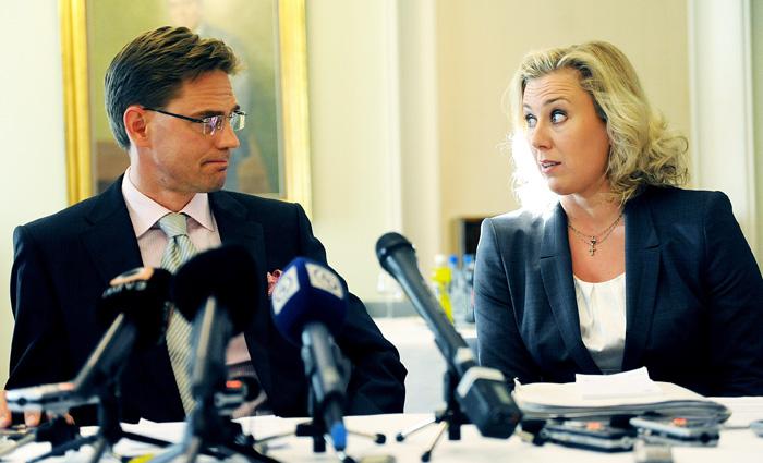 Jyrki Katainen ja Jutta Urpilainen