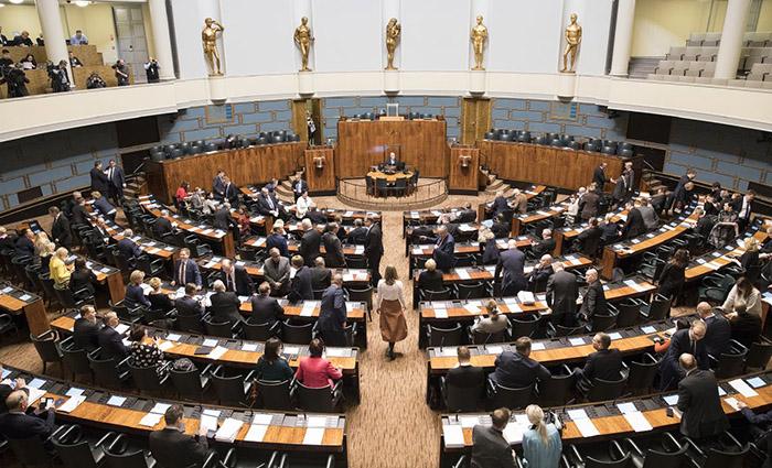 Eduskunnan täysistunto vuonna 2018