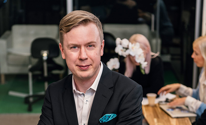 Kuvassa Olli Nokso-Koivisto